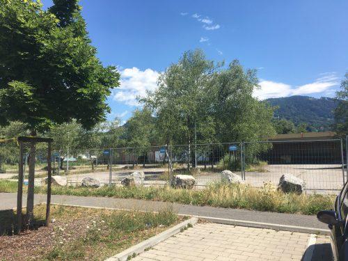 Noch herrscht Ruhe am ehemaligen Bauhaus-Areal in Dornbirn Schwefel, doch schon in Kürze beginnen die Arbeiten für den neuen Möbelix-Markt.VN/REH