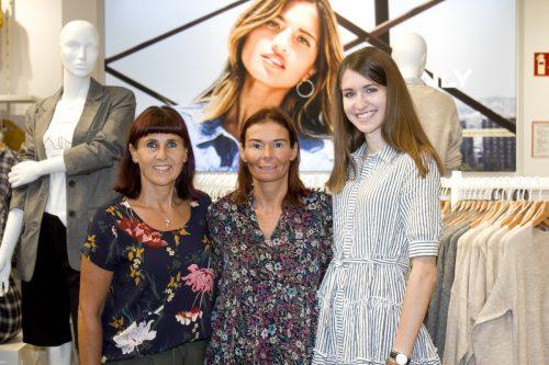 Only-Team lud zur Eröffnung: Miriam Steurer (l.), Nicole Schaedl und Amélia Eder. Franc