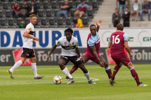Ousmane Diakite wurde in der zweiten Halbzeit wegen einer Überknöchelung links vorsichtshalber vom Platz genommen.VN-Stiplovsek