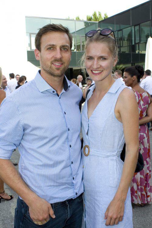 Philipp Österle (illwerke vkw) und Antonia Herburger.