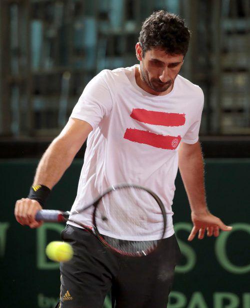 Philipp Oswald bestreitet heute sein Auftaktspiel in Wimbledon.GEPA