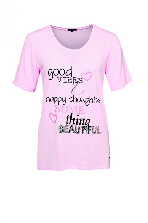 Pretty in Pink             Pinkes Statement-Shirt von Jones. Gibt's um 49,95 Euro.