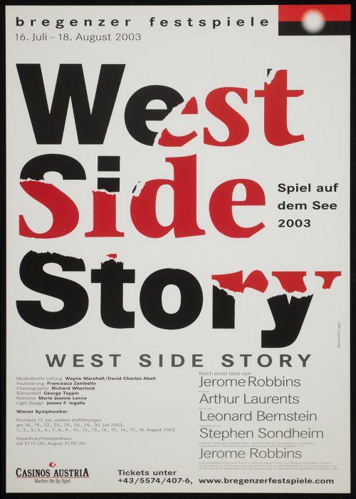 Reinhold Lugers letztes Plakat für die Bregenzer Festspiele. Mit dem Abschied von Alfred Wopmann endete auch die Ära Luger als Grafiker der Festspiele.