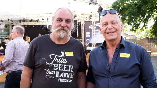 Restaurator Wilfried Matt und Musiker Harry Marte.