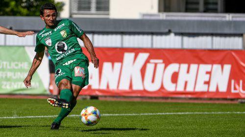Ronivaldo muss im ÖFB-Cup noch ohne Patrik Eler im Sturm auskommen.gepa