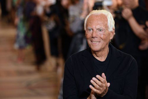 Ruhestand ist für Giorgio Armani, einen der größten Designer der Modegeschichte, keine Option. AFP