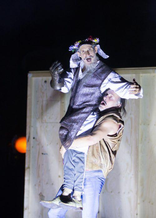 """Schauspielpremiere im Rahmen der Bregenzer Festspiele: Ulrich Matthes und Wolfram Koch in """"Don Quijote"""" von Jakob Nolte nach Miguel de Cervantes. VN/Hartinger"""