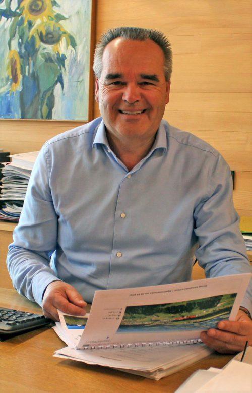 Seit 1994 ist Helmut Blank Bürgermeister von Sulzberg.mam