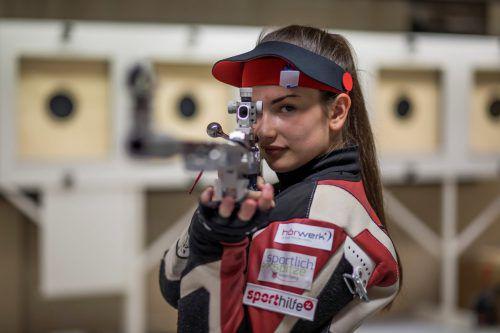 Luftgewehrschützin Sheileen Waibel wurde EM-Fünfte im Mixedteambewerb. Paulitsch
