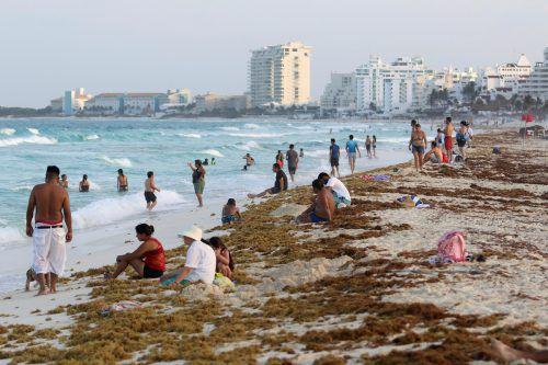 So wir hier in Cancún sieht es derzeit an vielen Karibikstränden aus. RTS