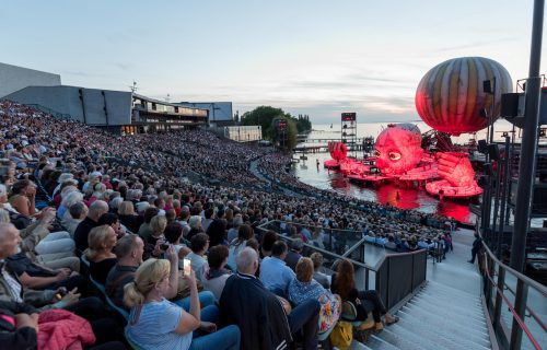 """Sobotka nach der Premiere: """",Rigoletto' war die absolut richtige Entscheidung für die Seebühne."""" Vn/PS, Stiplovsek"""