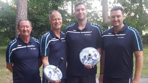 SV Lochau I mit den Spielern Stefan und Erich Pienz, Patrik Plangger und Christoph Sohm wurde ASVÖ-Landesmeister. svl