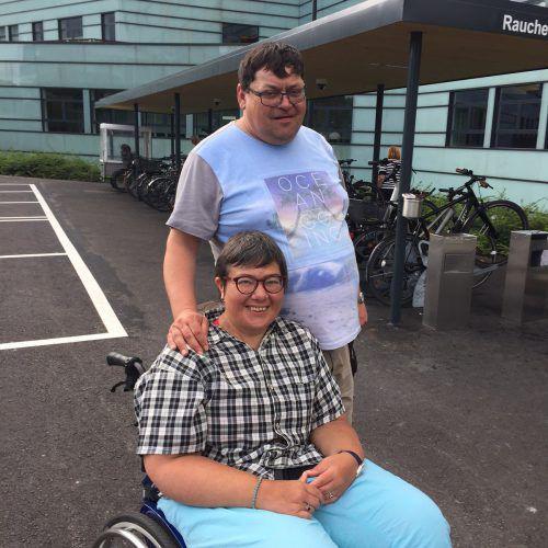 Tamara mit ihrem Lebensgefährten Kurt. Sie sind seit neun Jahren ein Paar. KUM
