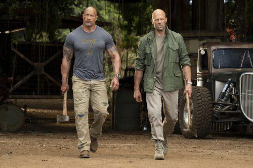 Trotz aller Rivalitäten müssen Luke Hobbs (Johnson) und Deckard Shaw (Statham) zusammenarbeiten. ap