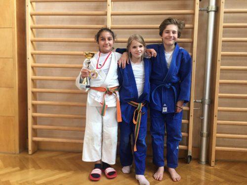 Unsere jungen Judokas freuten sich über den Erfolg.union judo
