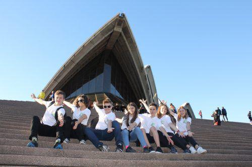 Unvergessliche Tage für die Mittelschüler aus Nenzing in Australien. EM/MS