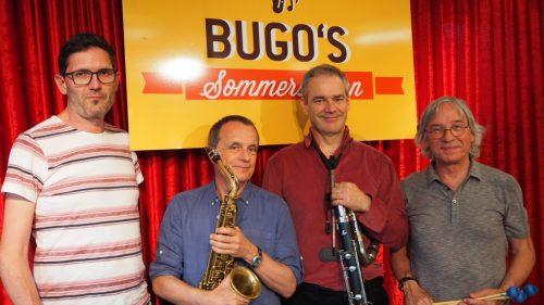 Vibes and Pipes spielten gemütlichen Jazz. Christof Egle