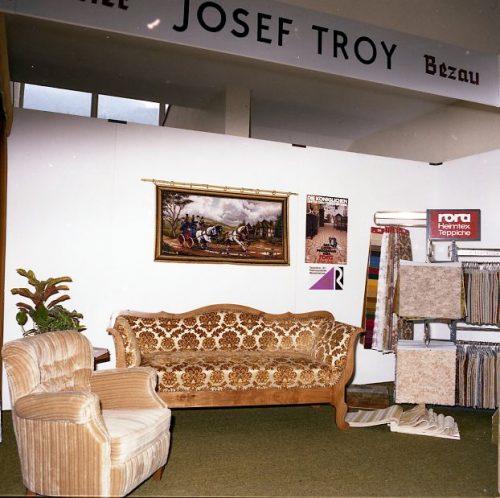 Von Anfang an dabei – mit spektakulären Kojen, wie die VIP-Lounge im Obergeschoß im Bezeggsaal, wo die Ausstellung 1976 startete.