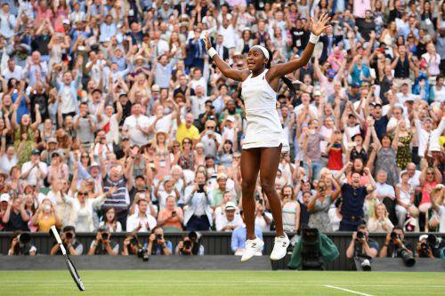 Wimbledon hat einen neuen Liebling: Die Amerikanerin Cori Gauff, die, im Alter von 15 Jahren im Achtelfinale des Turniers steht.AFP
