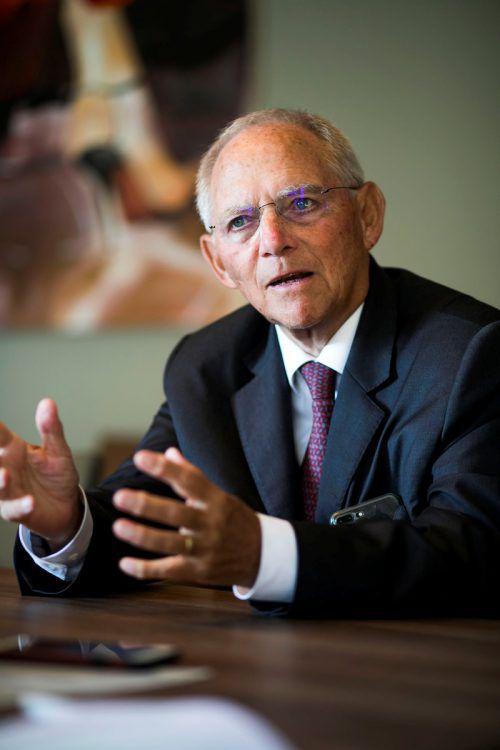 Wolfgang Schäuble wünscht sich Änderungen im EU-Vertrag. VN/Paulitsch