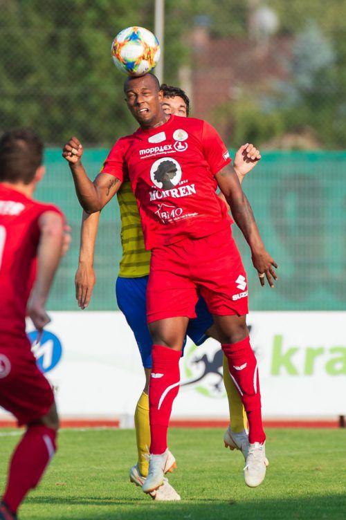 Ygor Carvalho und seine Kollegen vom FC Dornbirn schlossen die Testspielserie mit einem 3:0-Sieg gegen TSV Berg (D) ab. VN
