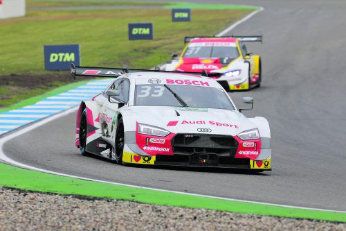 Audi-Pilot René Rast baute mit einem Sieg und einem zweiten Platz in Brands Hatch die Führung in der DTM-Serie aus.noger