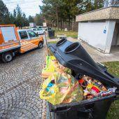Unmengen von Müll auf den Raststätten