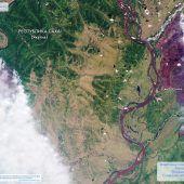 Militär kämpft gegen Waldbrände in Sibirien