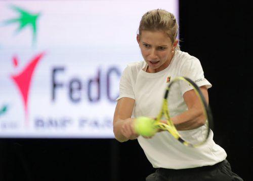 Barbara Haas rückt in der Weltrangliste unter die Top 150 vor.gepa