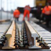 Bauarbeiten behindern Zugverkehr