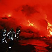 Flammeninferno bei Loacker Recycling