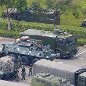 China droht mit Militärgewalt