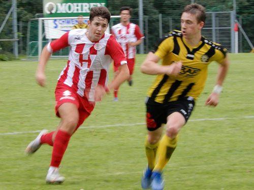 Das Stadtderby SC Graf Hatlerdorf gegen FC Dornbirn Amateure bot spannende Fußballminuten.cth