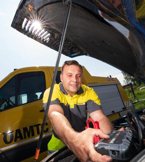 """Defekte Batterien und Probleme mit Motoren waren die Hauptgründe für die Einsätze der """"gelben Engel"""" des ÖAMTC. VN/stiplovsek"""