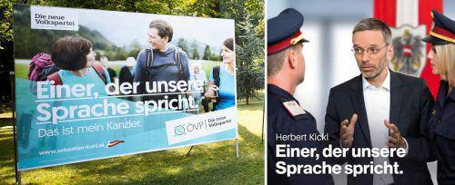 Den Spruch von ÖVP-Chef Kurz nutzt auch Ex-Innenminister Herbert Kickl i (FPÖ) in einer Social Media-Kampagne. Apa/Twitter