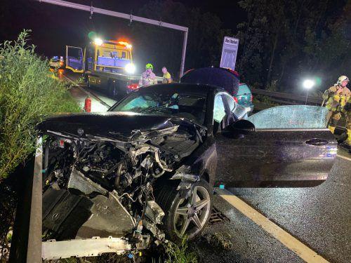 Der 24-Jährige geriet mit seinem Mercedes zwischen Rankweil und Klaus ins Schleudern. vol.at/Vlach