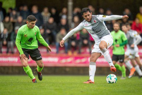 Der Brasilianer Wendel Pereira Rosales sorgt derzeit für Furore in Egg. In den ersten vier Spielen erzielte er ebenso viele Treffer. vn-sams
