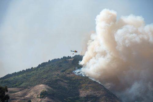 Die Feuerwehr war mit Hubschraubern und Löschflugzeugen im Einsatz. AFP