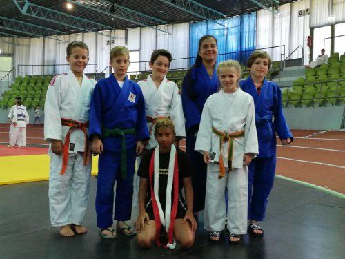 Die jungen Judokas beim Judoturnier in Sindefingen.union judoclub hohenems