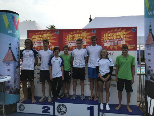 Die Schwimmer der TS Dornbirn waren in Wels erfolgreich. cth