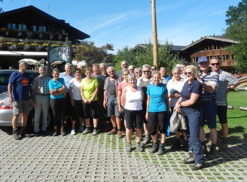 Die Teilnehmer der Bergwanderung. sb schwarzenberg