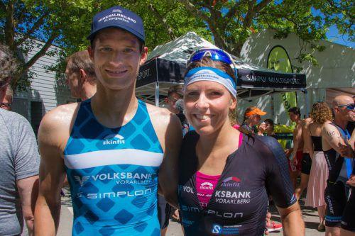 Die Vorjahrsieger am Jannersee: Paul Reitmayr und Bianca Steurer. VTRV