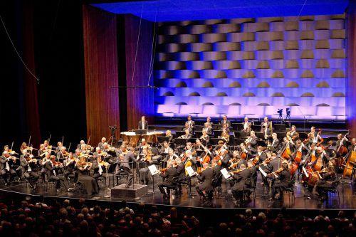 Die Wiener Symphoniker unter der Leitung von Philippe Jordan im Bregenzer Festspielhaus. BF/D. Mathis