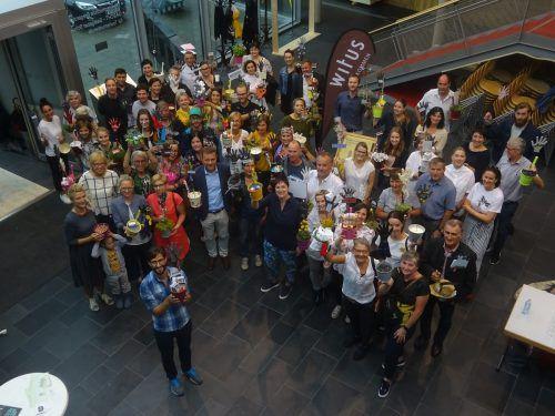 Die Witus-Kaufleute präsentierten in den Wirtschaftsschulen ihren Beitrag zur Handwerksausstellung.witus