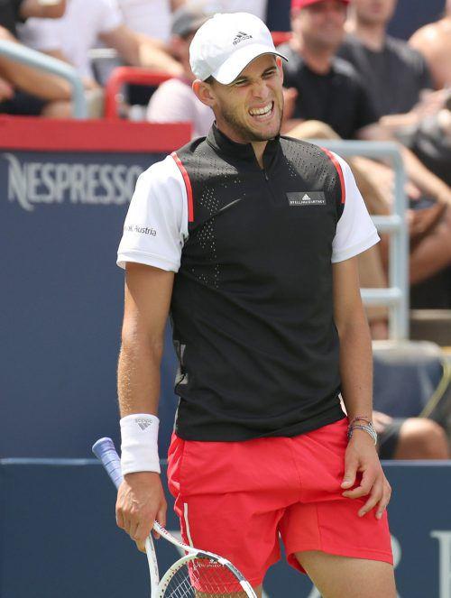 Dominic Thiem konnte wegen einer Erkrankung im Viertelfinale gegen Daniil Medwedew nicht mithalten.apa
