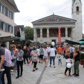 Nachtflohmarkt in der Dornbirner Innenstadt