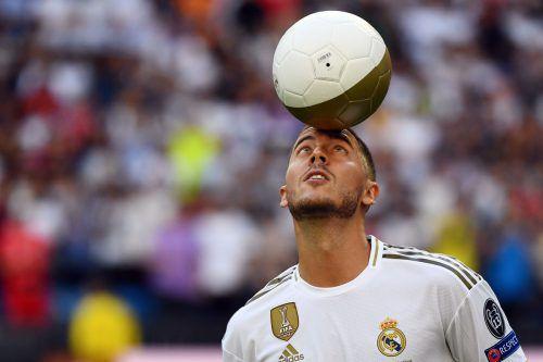 Eden Hazard kam von EL-Sieger Chelsea zu den Königlichen nach Madrid. afp