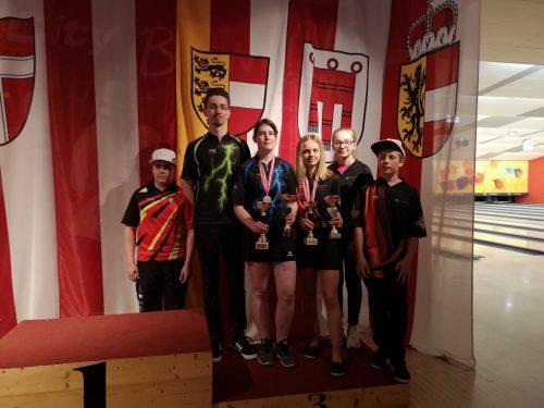 Ein Mal Gold, zwei Mal Silber und zwei Mal Bronze für die Vorarlberger Bowlingjugend. vsbv