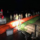 Feuerwehren im Regeneinsatz