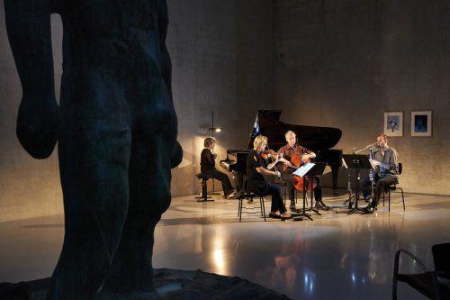 Ensemble Phace im Kunsthaus beim vierten Einblick der Festspiele in die neue Opernproduktion. BF/Anja Köhler